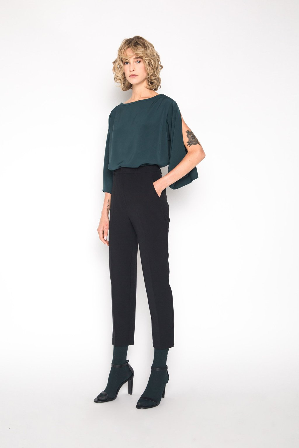 Blouse 1445 Forest Green 1