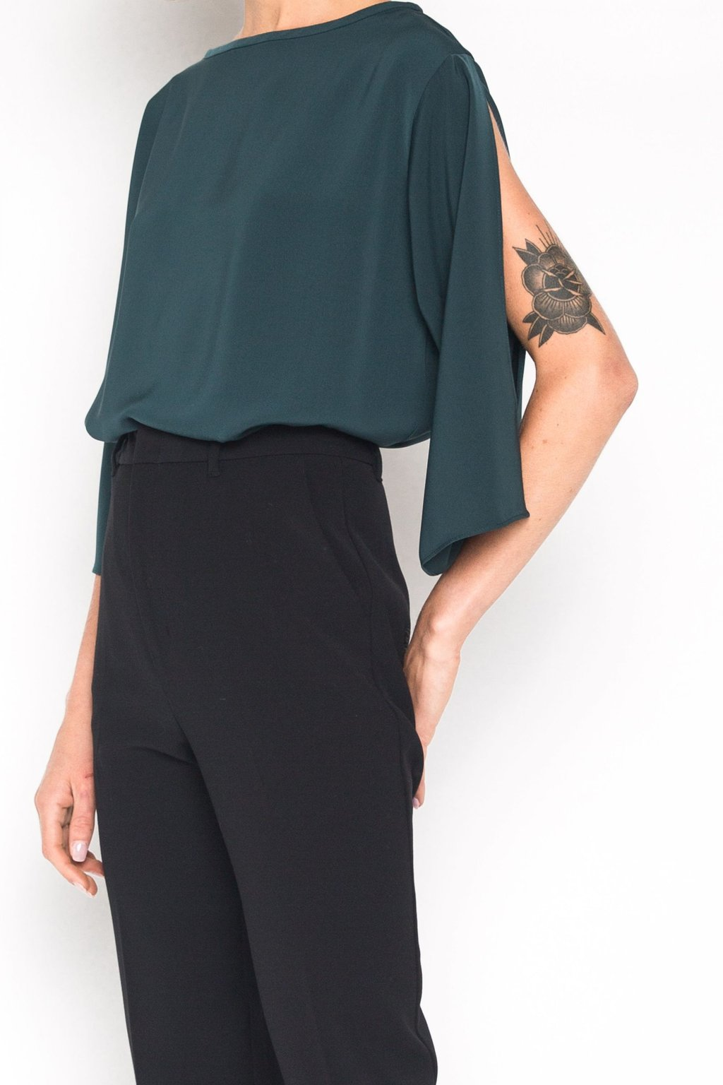 Blouse 1445 Forest Green 3