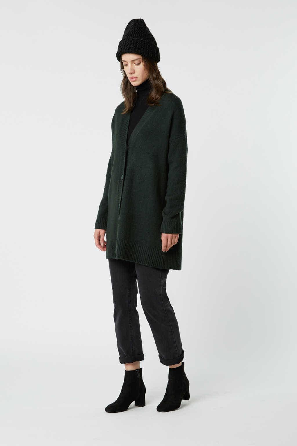 Cardigan 2501 Green 3