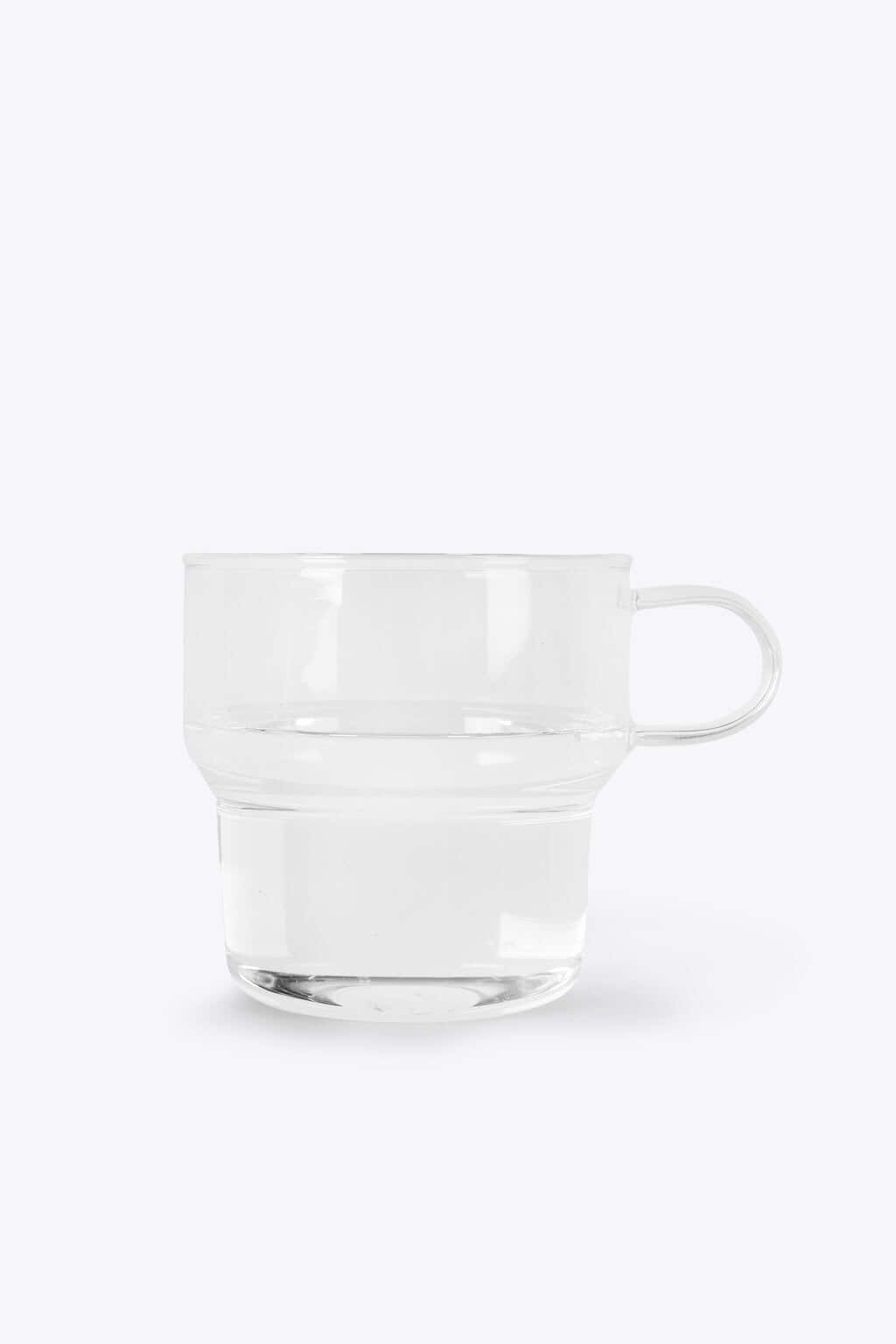 Clear Glass Mug 3135 White 3