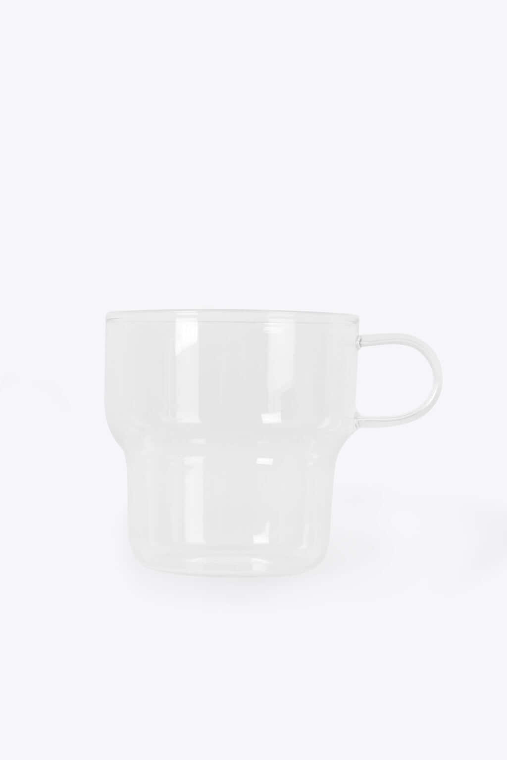 Clear Glass Mug 3135 White 4
