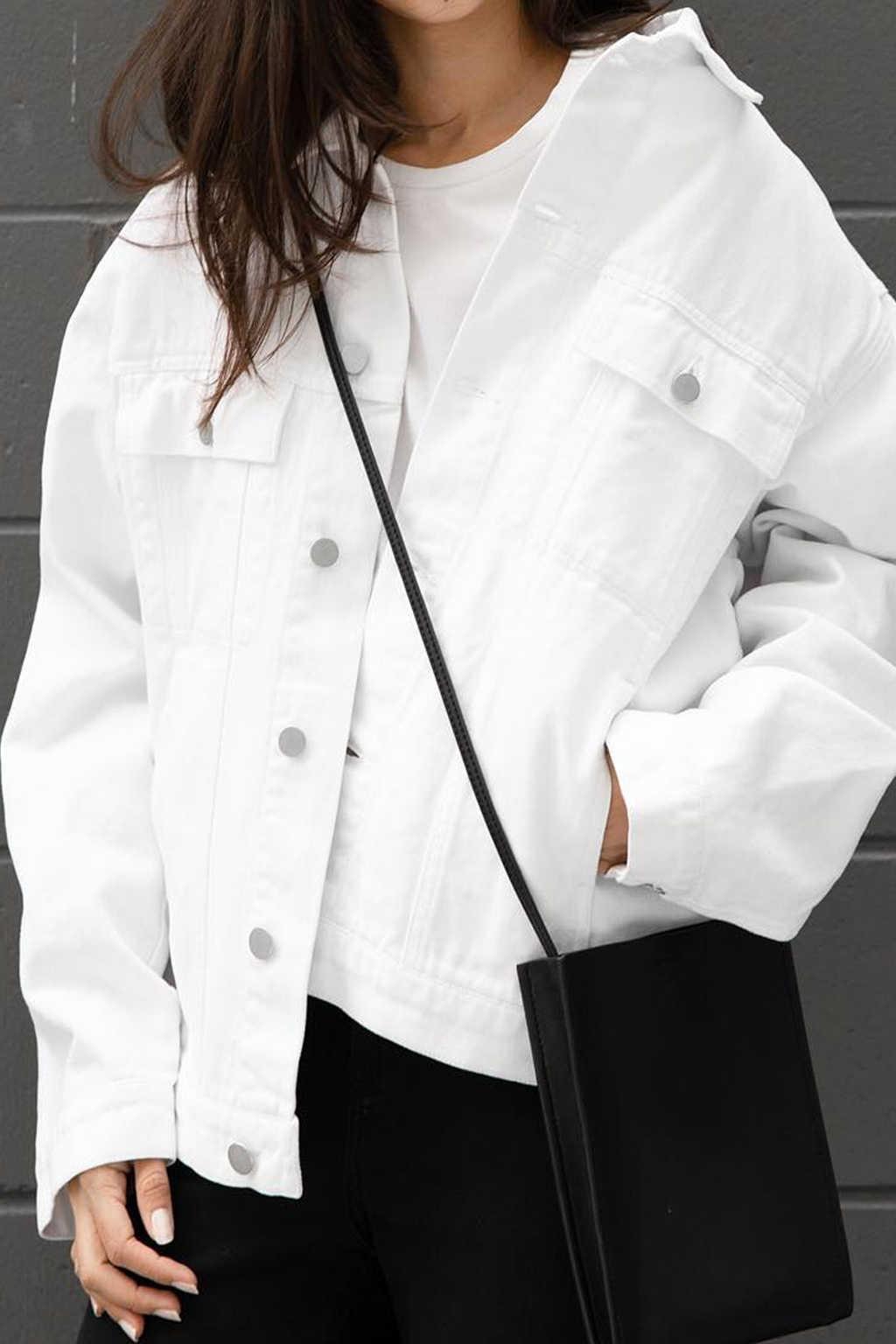 Denim Jacket 3318 White 16