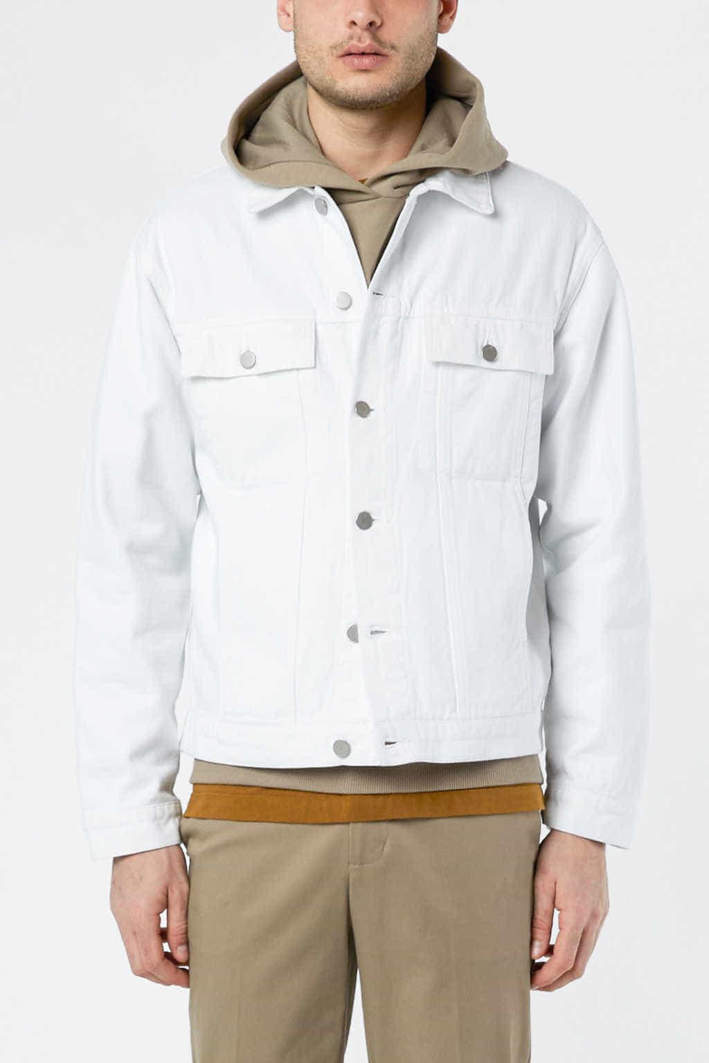 Denim Jacket 3318 White 17