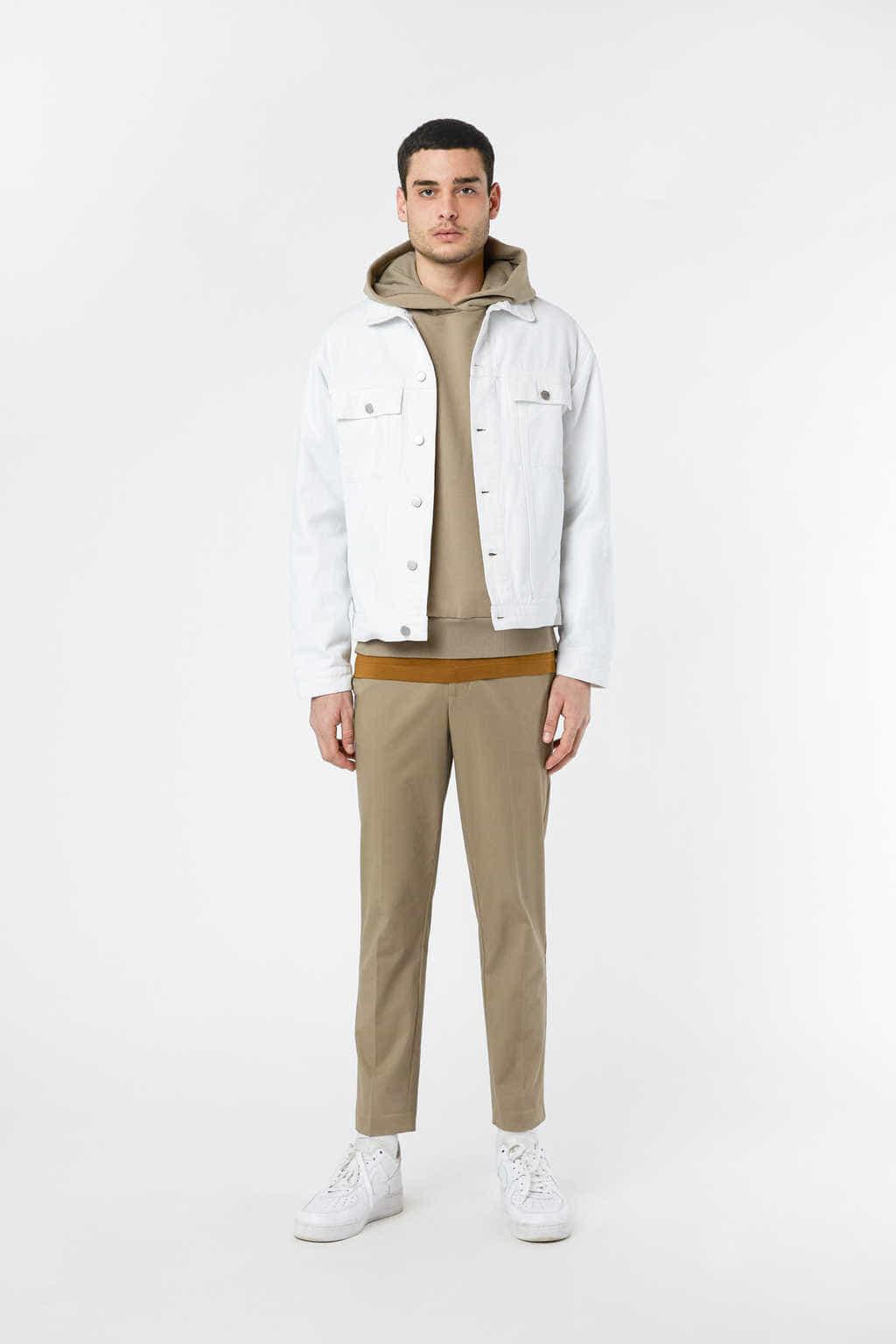 Denim Jacket 3318 White 18