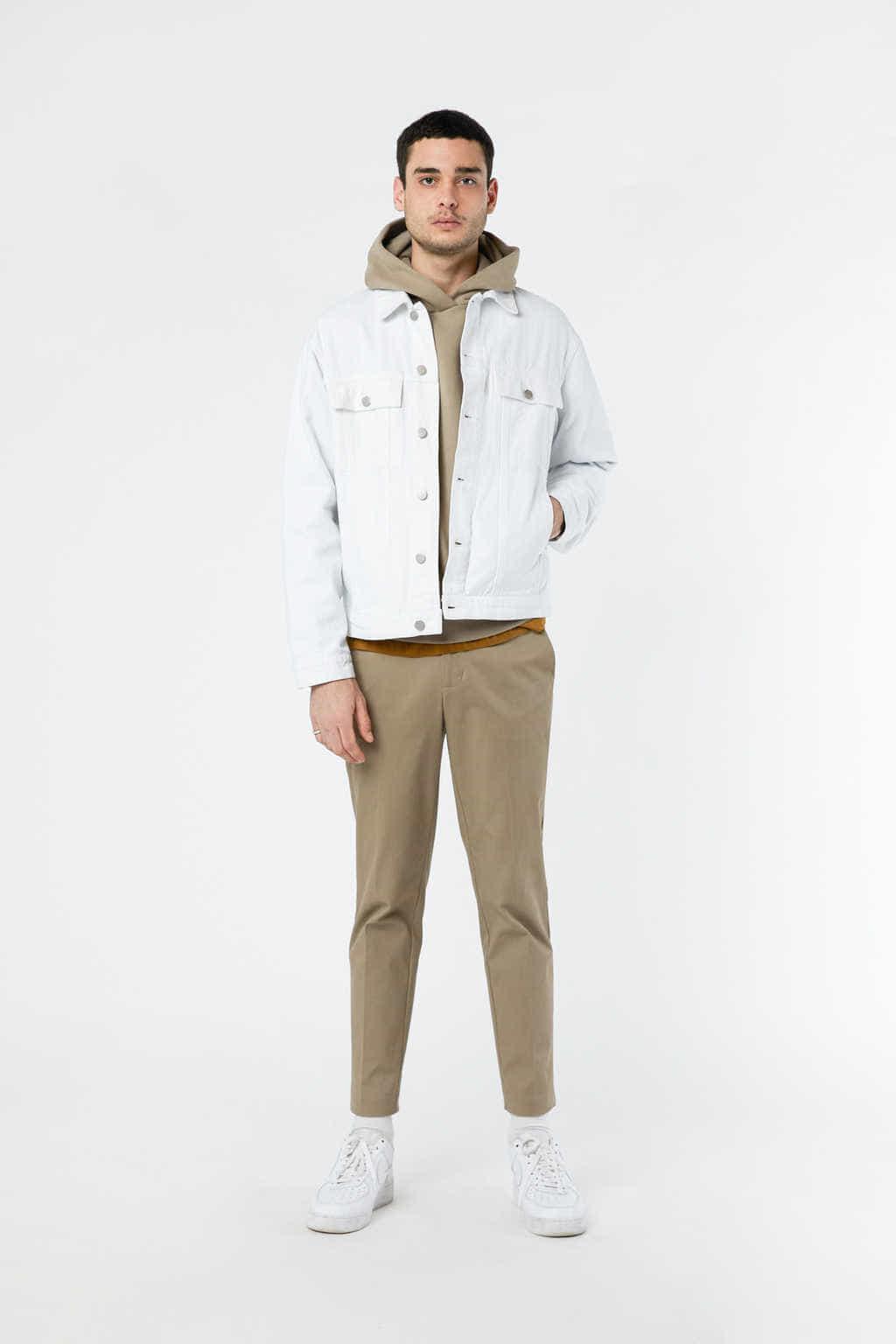 Denim Jacket 3318 White 19