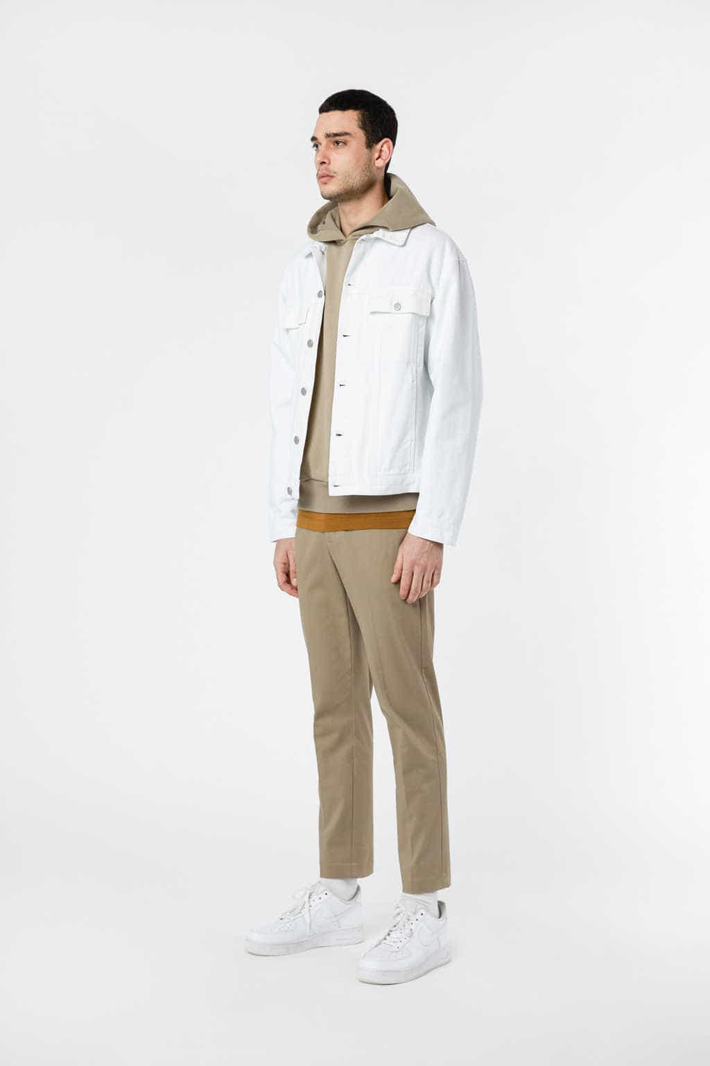 Denim Jacket 3318 White 20