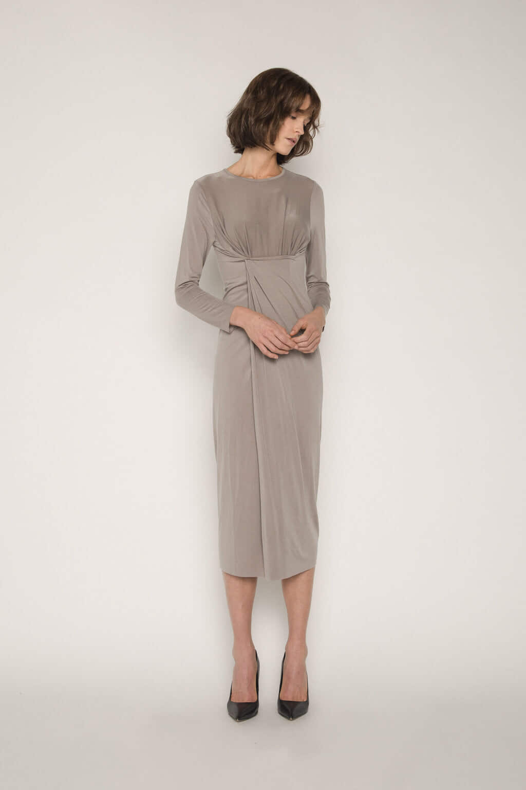 Dress 1673 Taupe 1