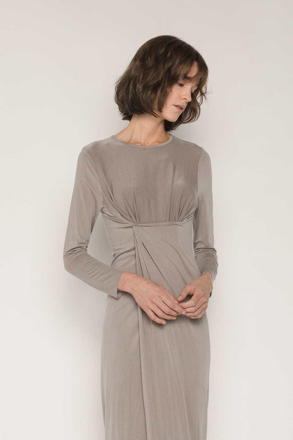 Dress 1673 Taupe 2