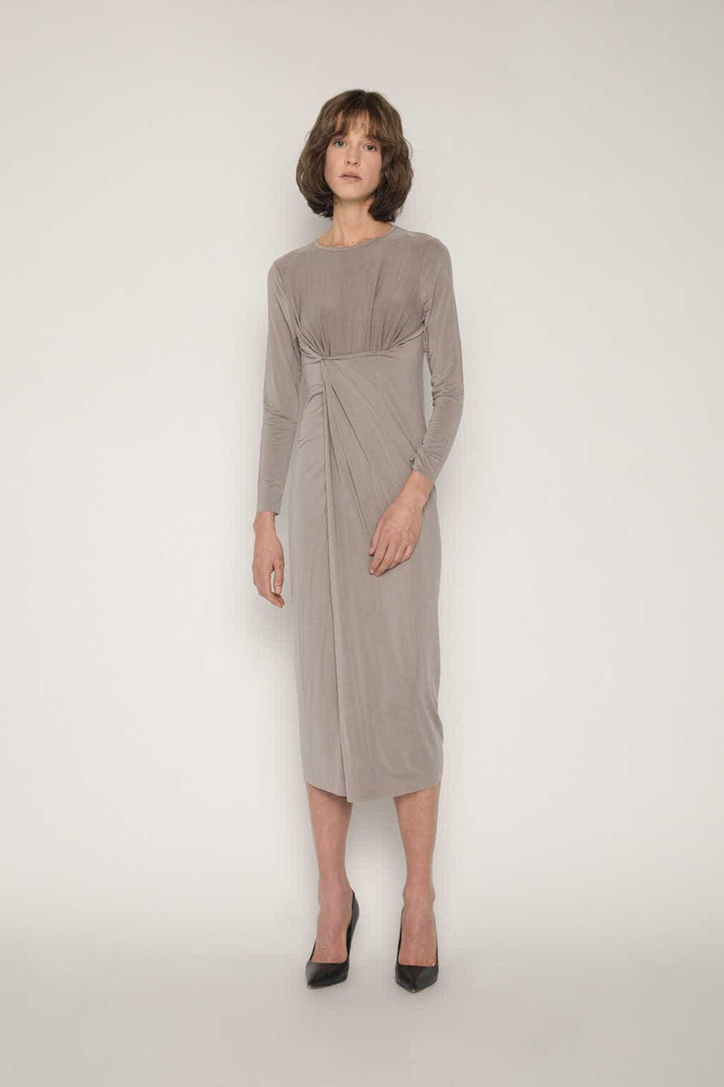 Dress 1673 Taupe 4