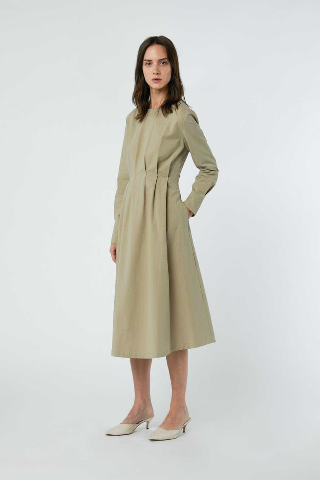 Dress 3081 Khaki 2