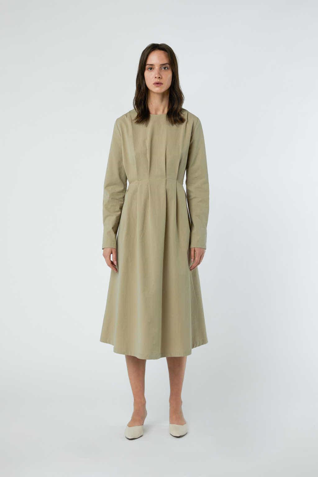 Dress 3081 Khaki 3