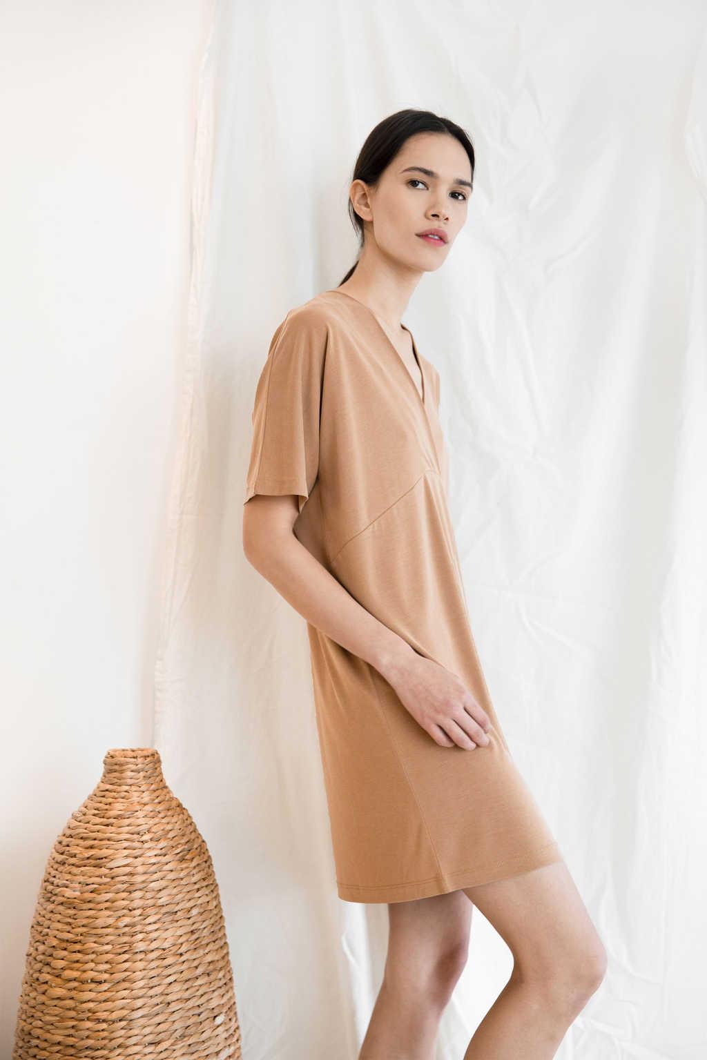 Dress 3157 Tan 8