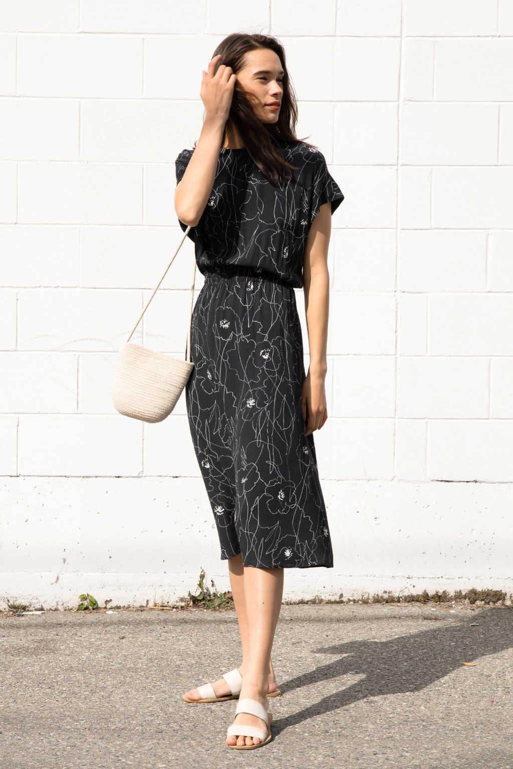 Dress 3168 Black Print 1