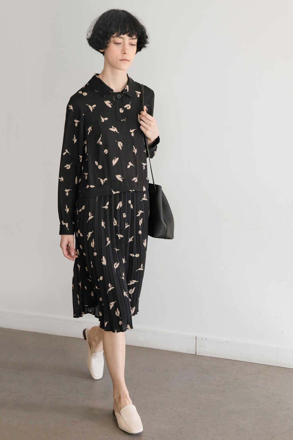 Dress 3393 Black Print 1