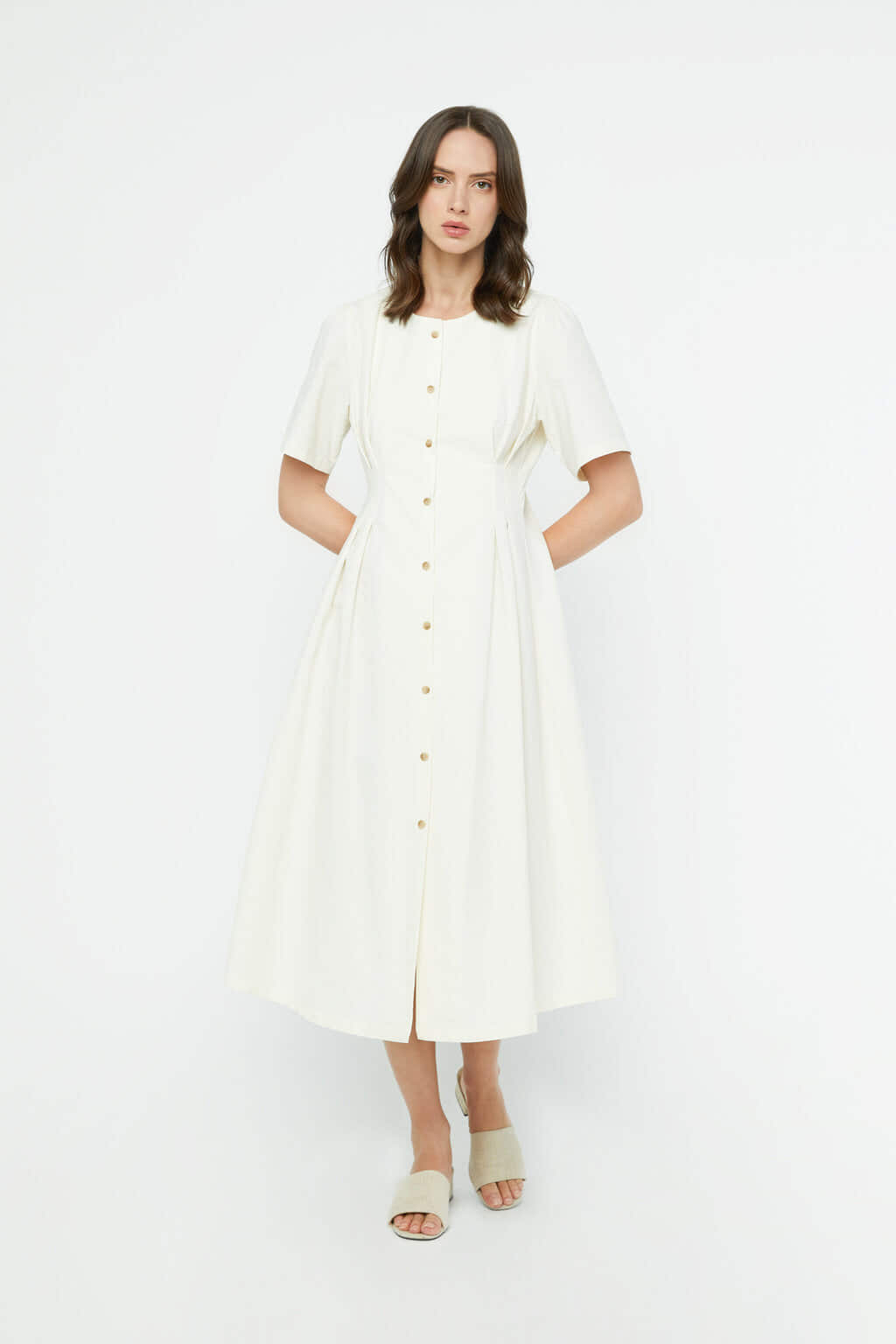 Dress K011 Cream 3