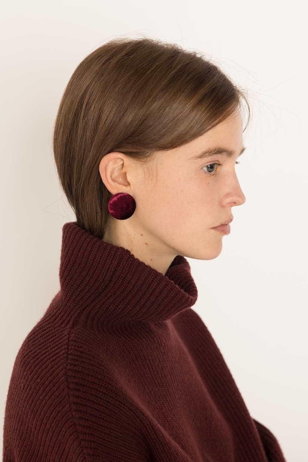 Earring H253 Wine 4