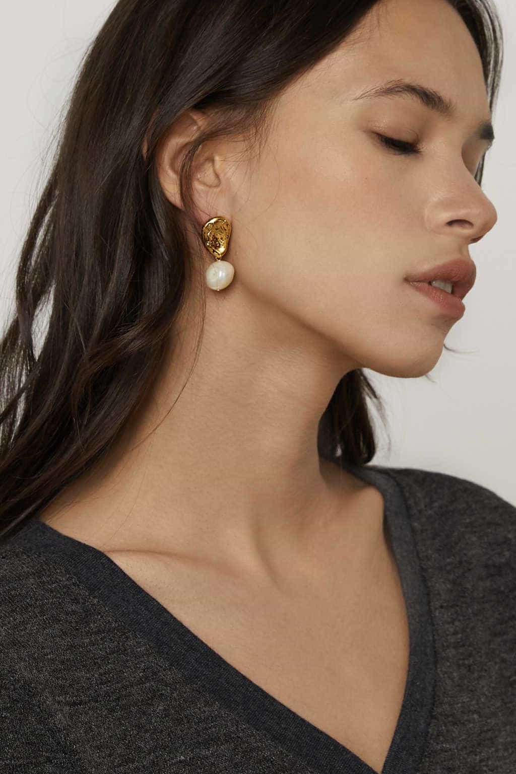 Earring J005 Gold 2
