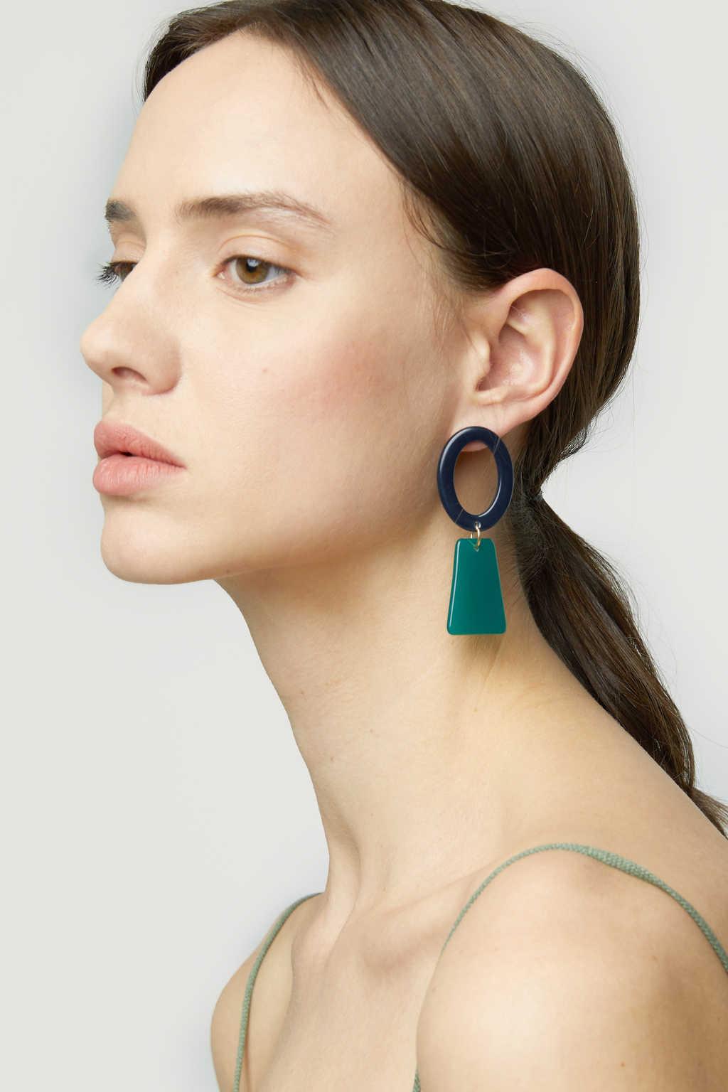 Earring K018 Green 1