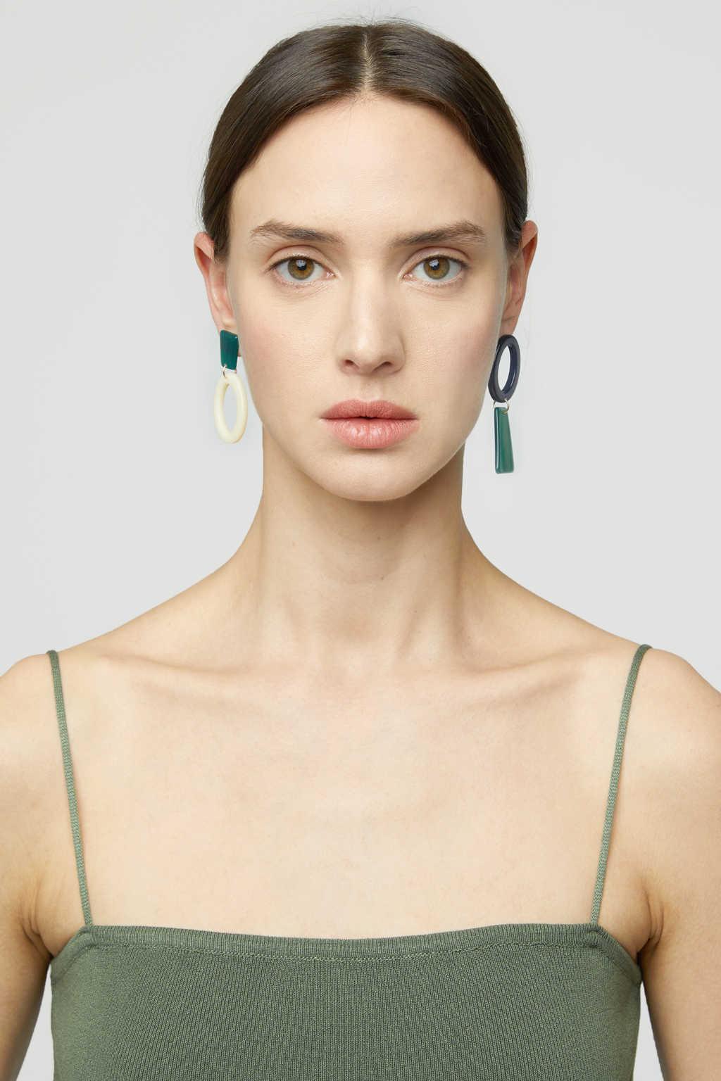 Earring K018 Green 2