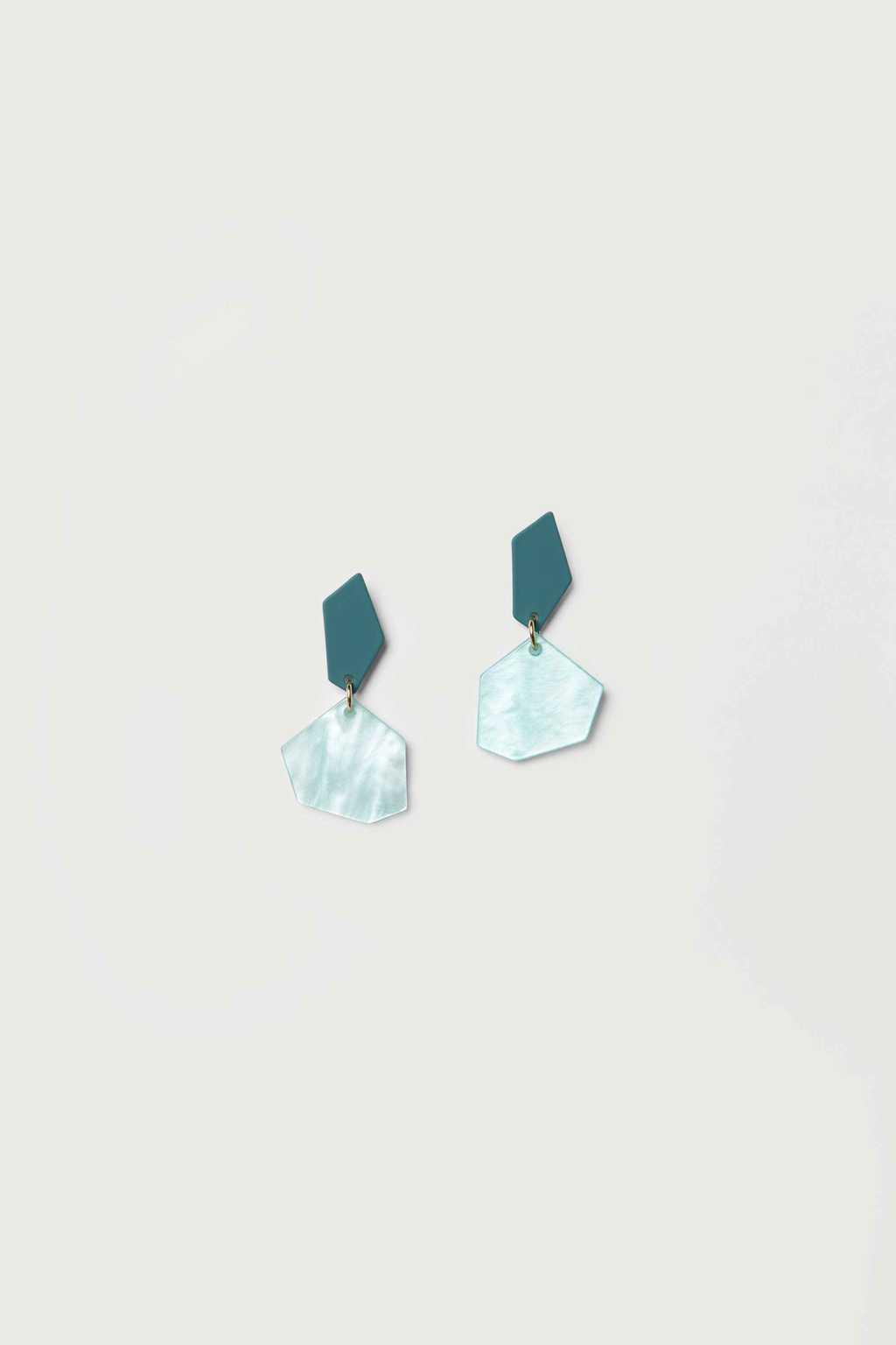 Earring K022 Blue 1