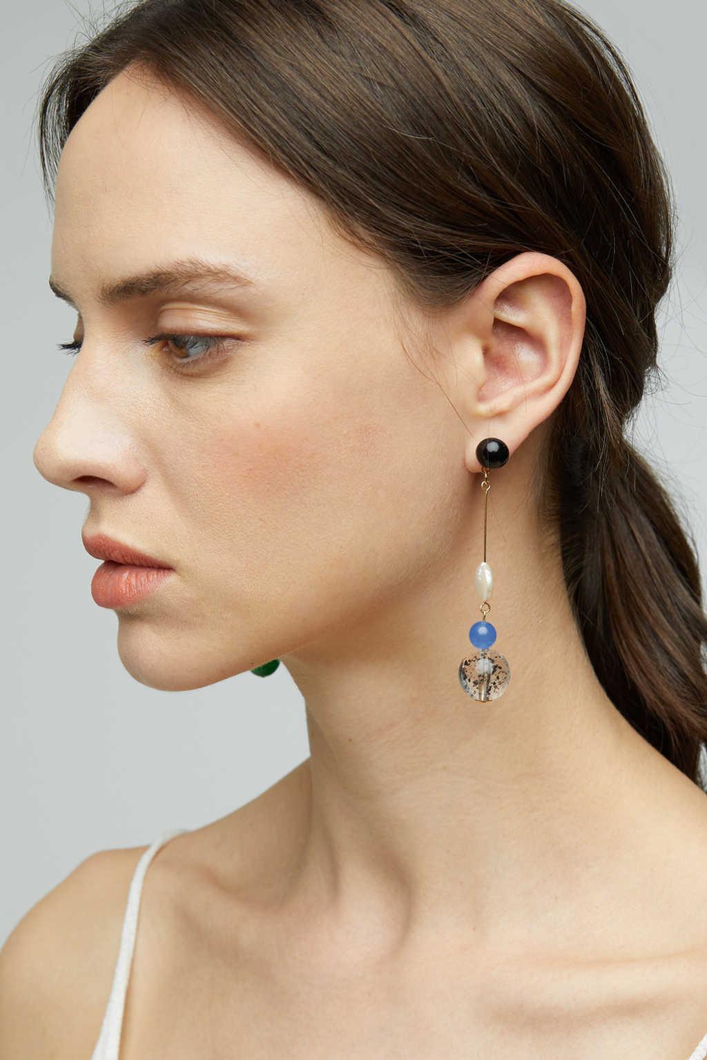 Earring K026 Blue 2