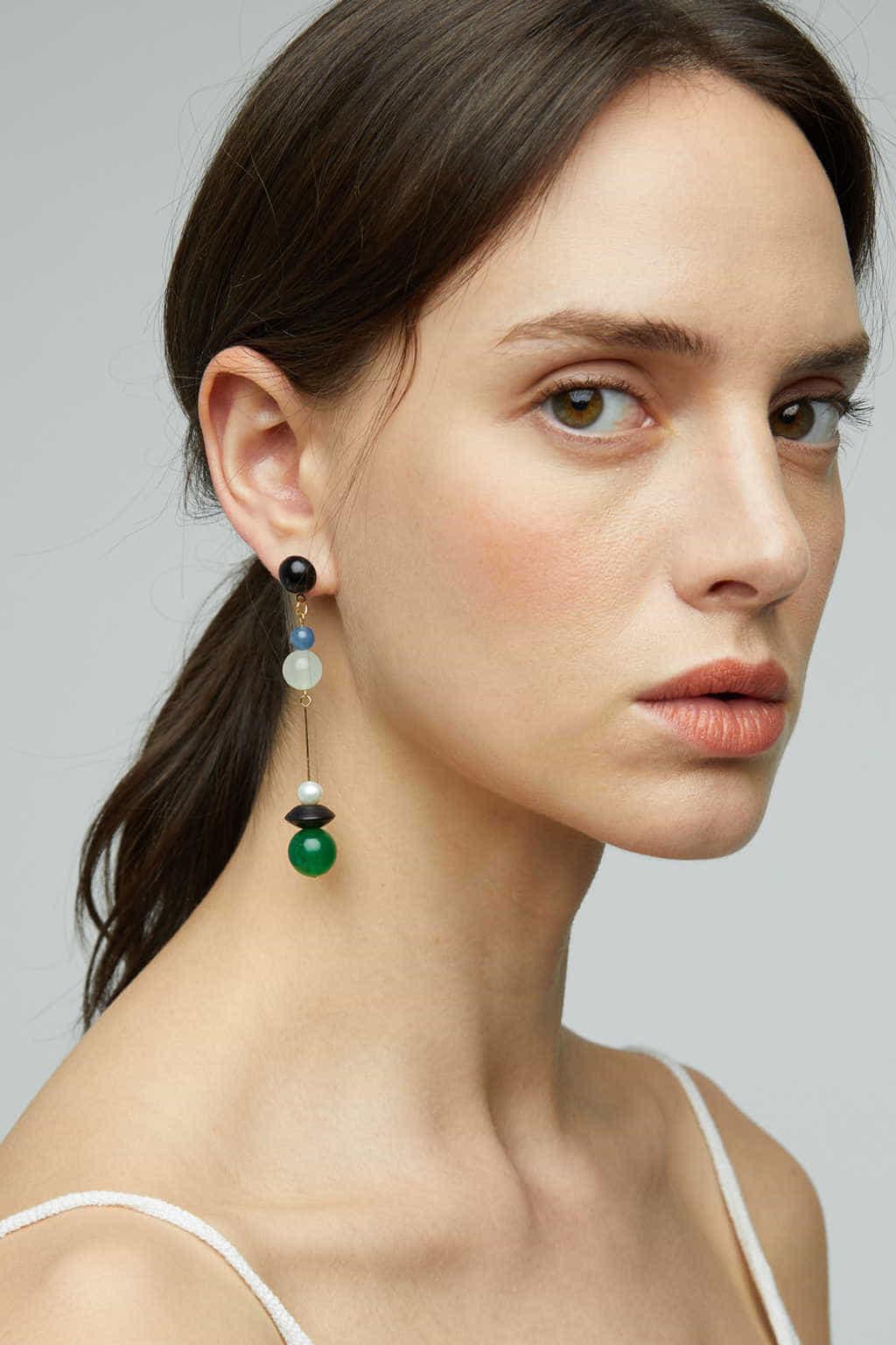 Earring K026 Blue 3