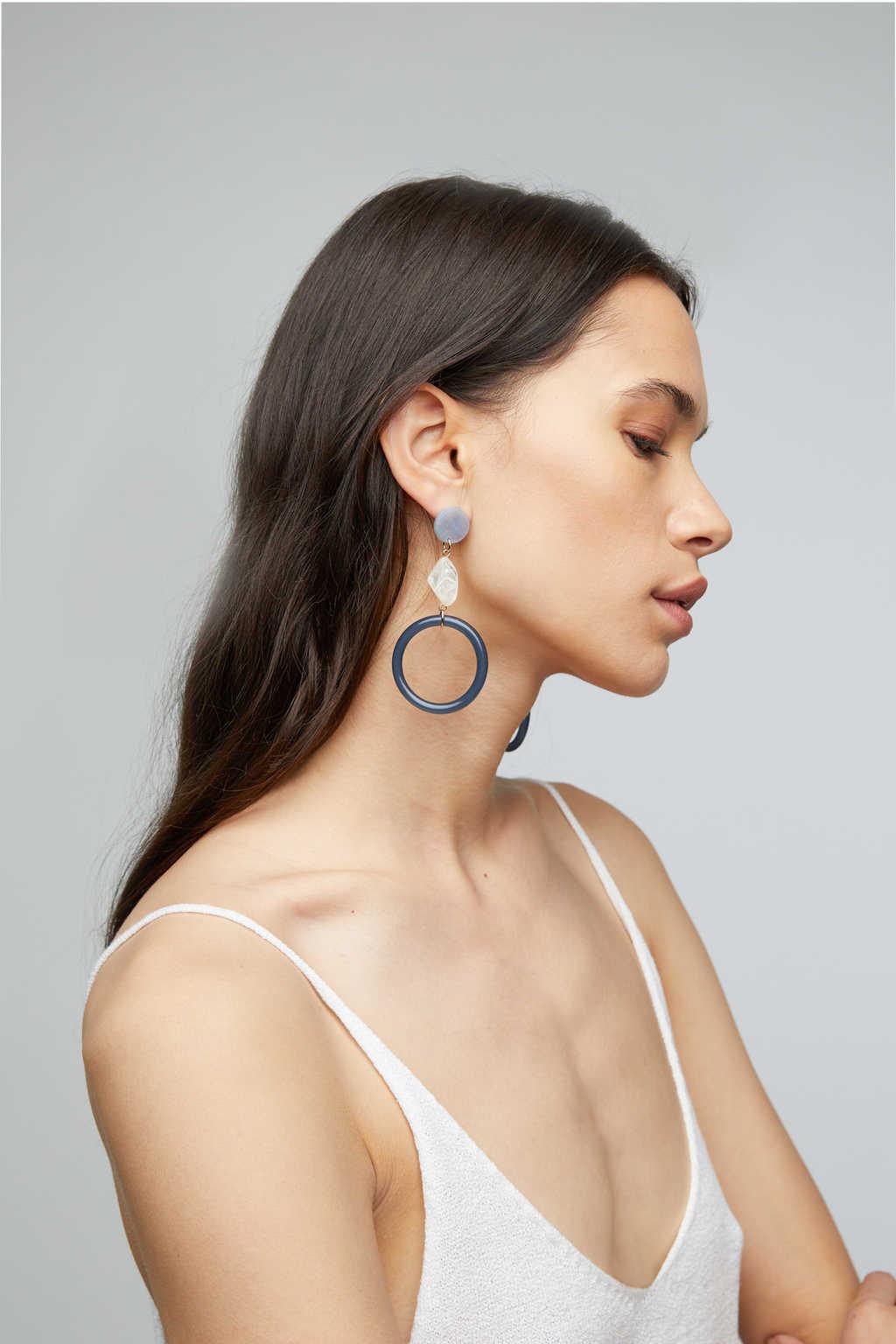 Earring K031 Black 1