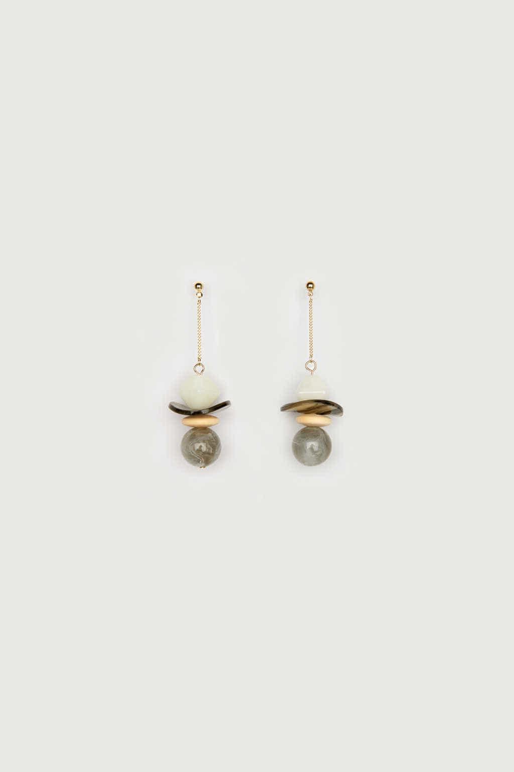 Earring K047 Gray 1