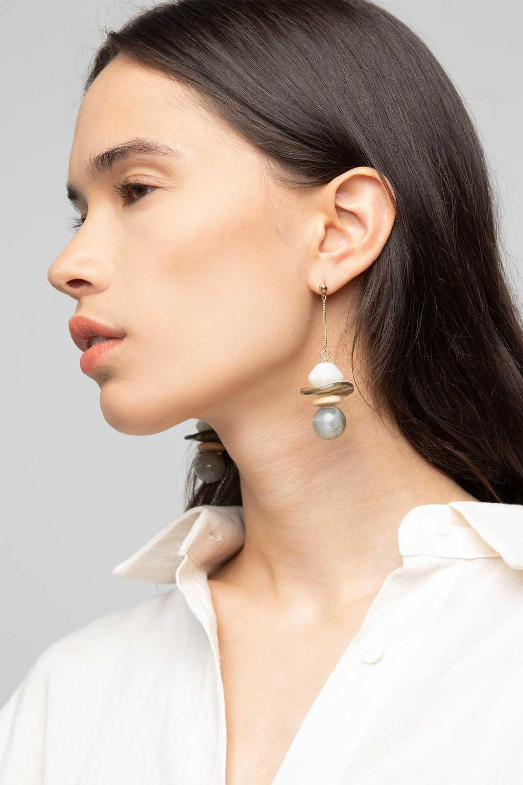 Earring K047 Gray 3