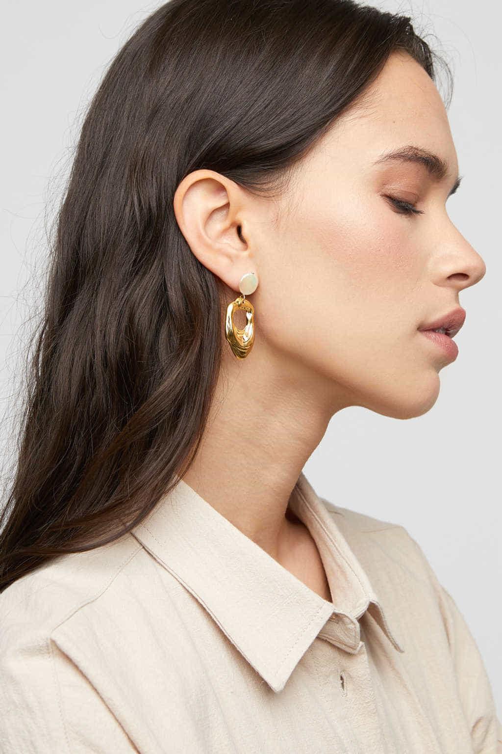 Earring K049 Gold 2