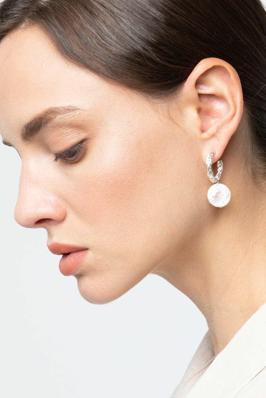 Earring K054 Silver 2