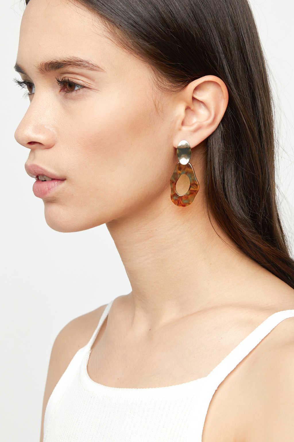 Earring K067 Brown 1