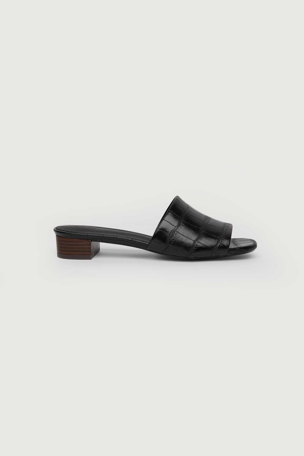 Heeled Mule 1484 Black 7