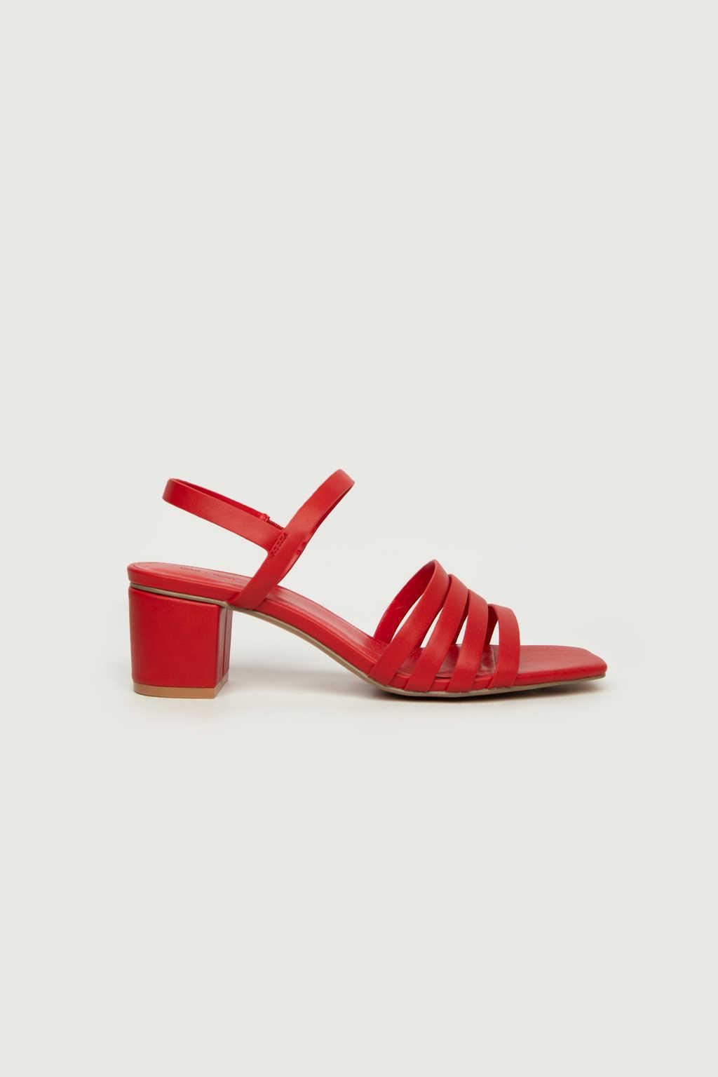 Heeled Sandal 3455 Red 5