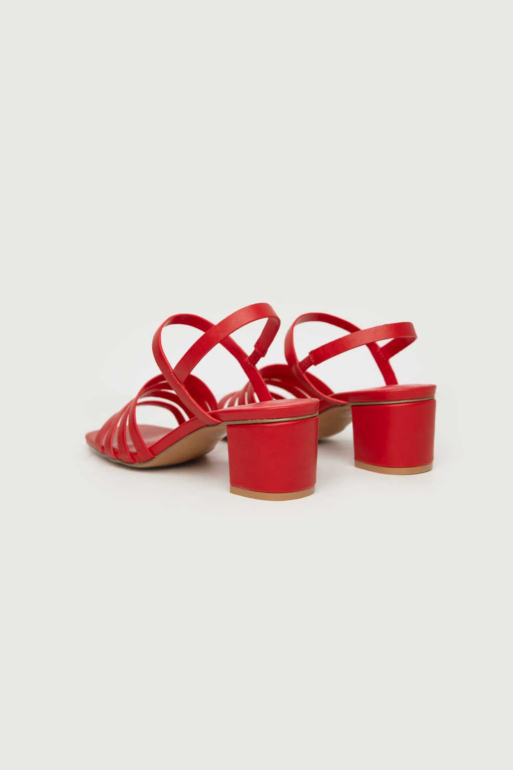 Heeled Sandal 3455 Red 7