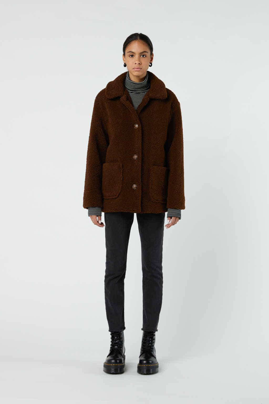 Jacket J001K Brown 4