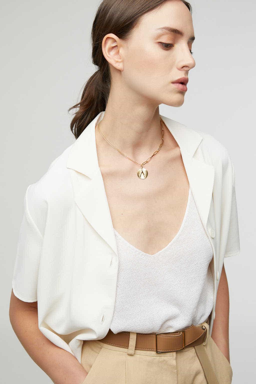 Necklace K009 Gold 1