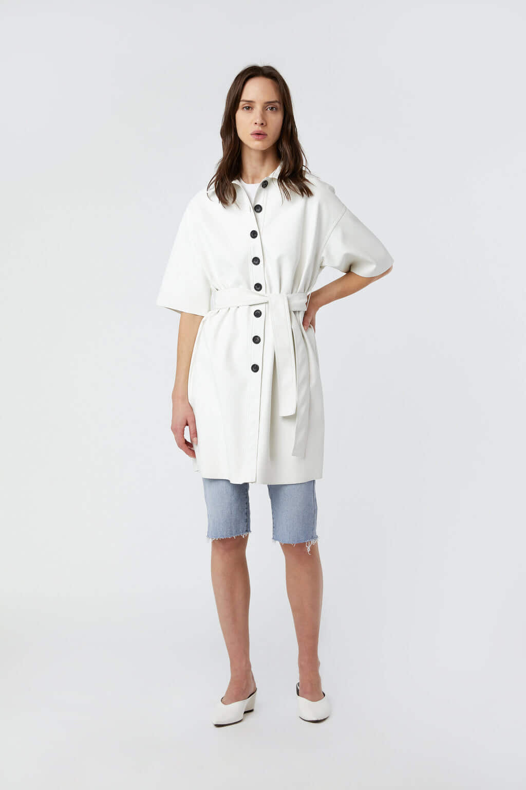 Shirt Dress J009 Cream 1