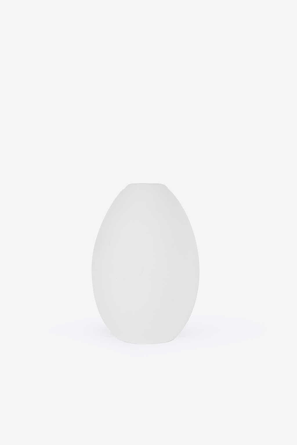 Short Oval Vase 3131 White 6