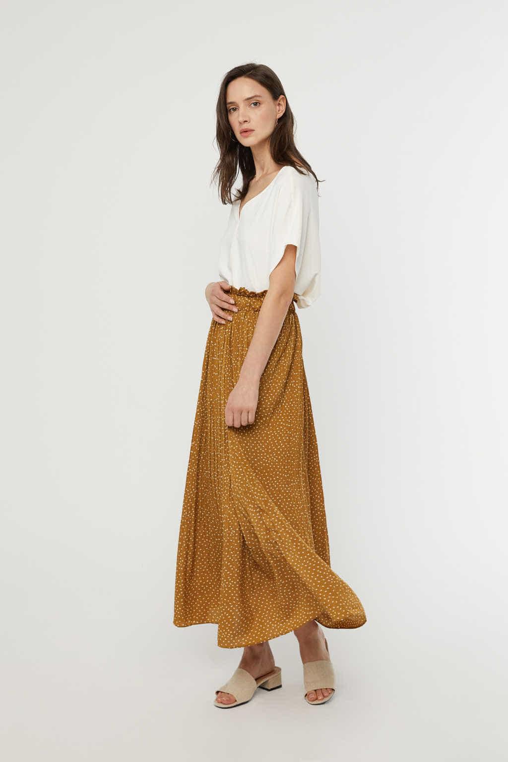 Skirt K009 Camel 1