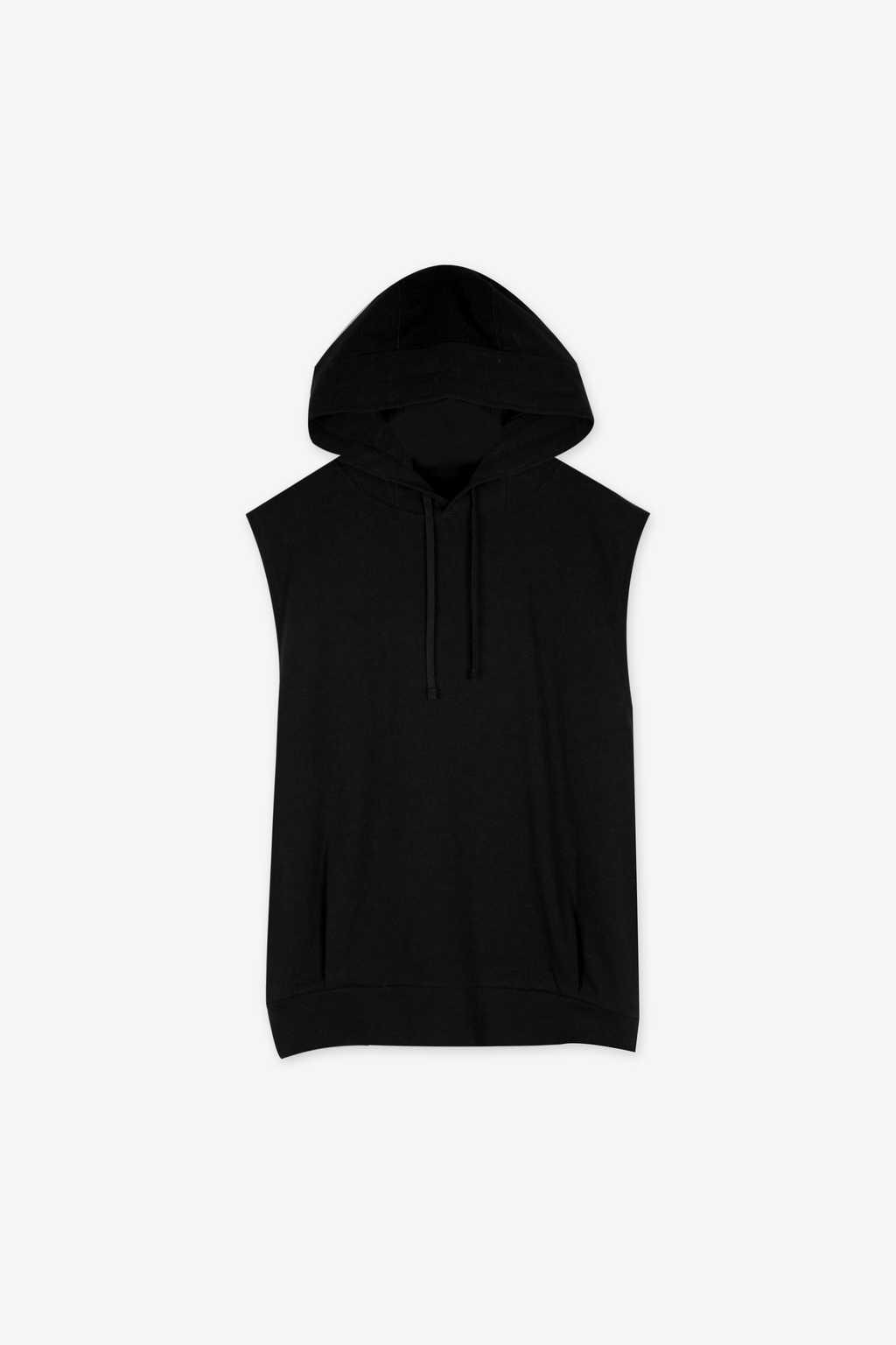 Sleeveless Hoodie 1113 Black 6
