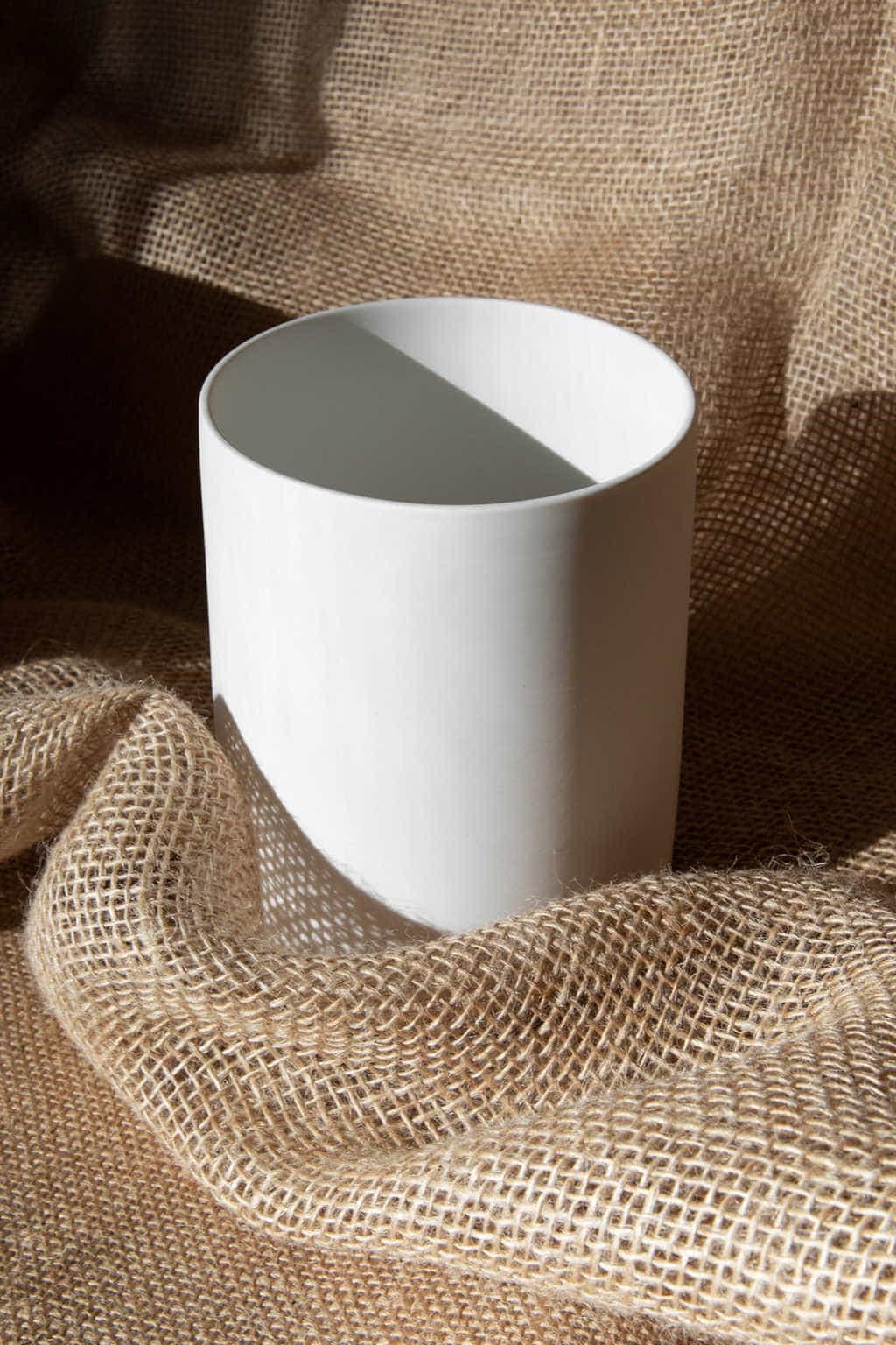Slim Ceramic Planter 2946 White 2