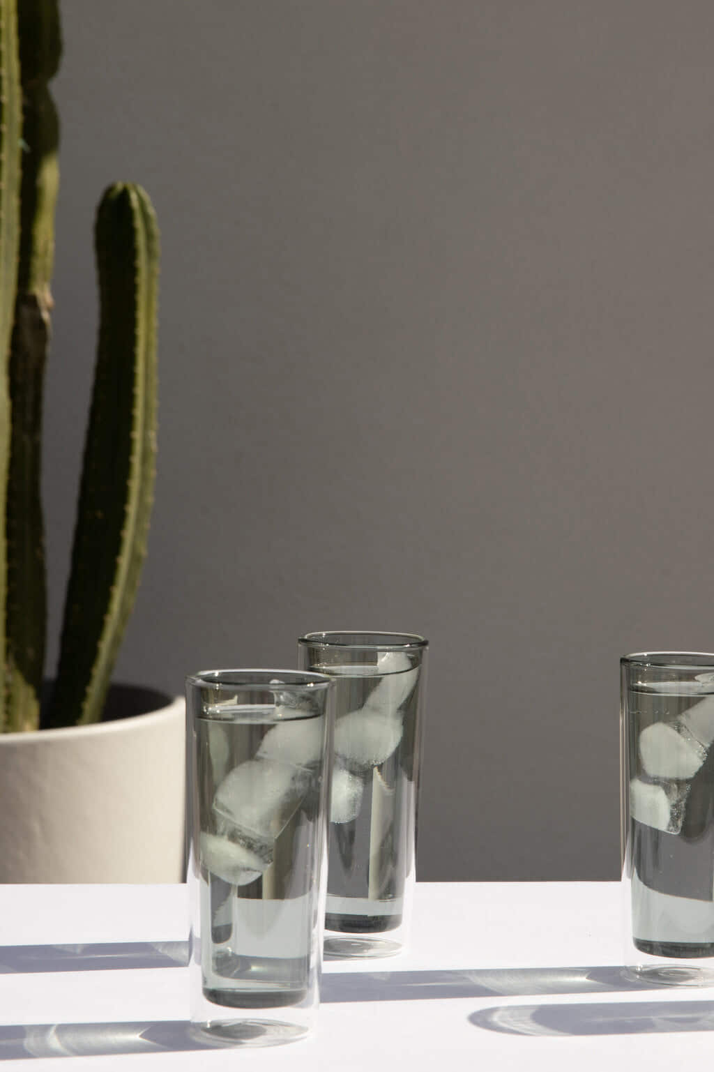 Tall Glass Cup 3339 Gray 4