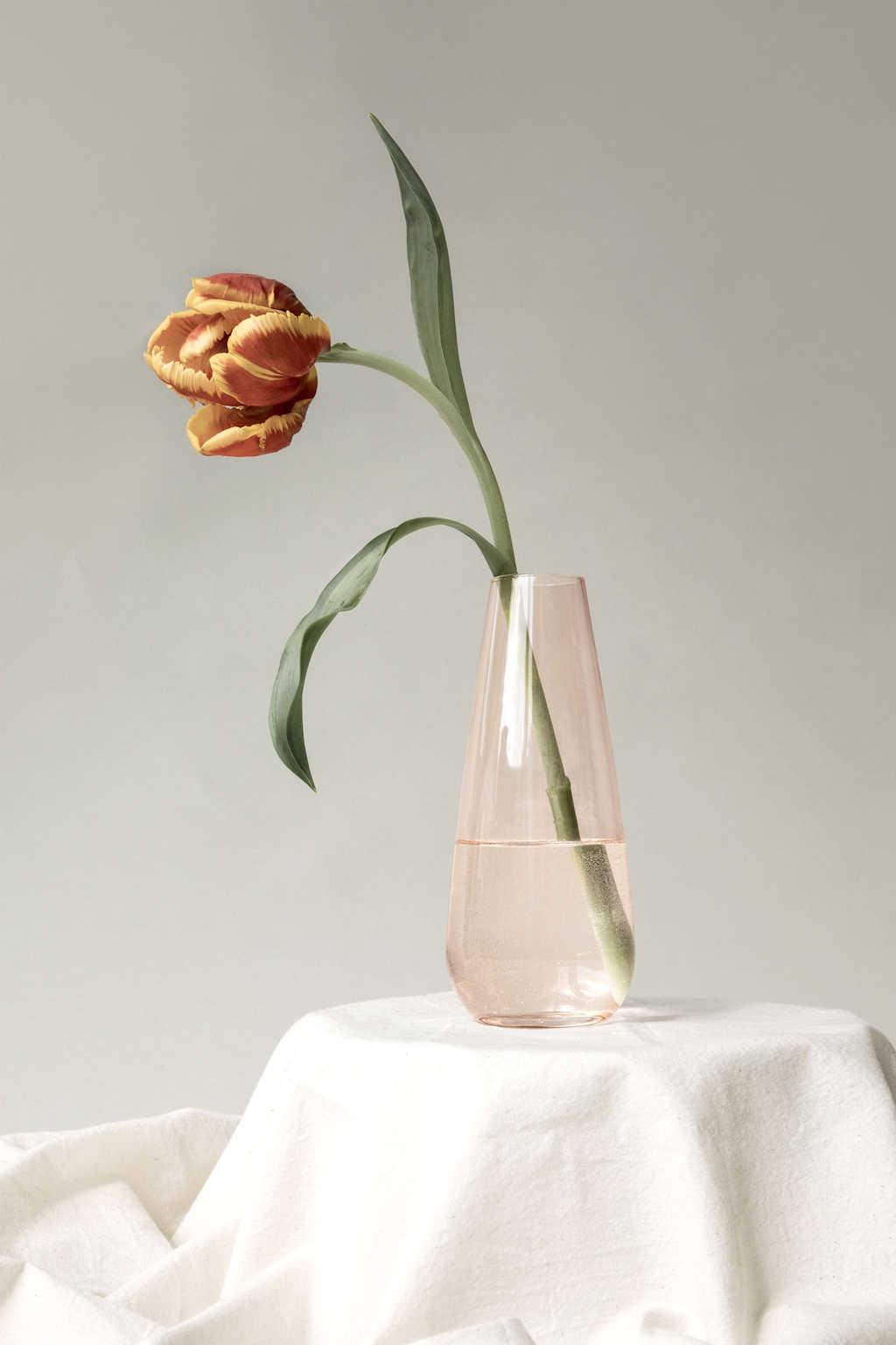 Tear Drop Vase 3373 Rose 5