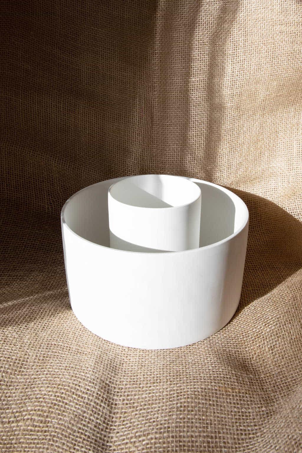 Wide Ceramic Planter 2947 White 2