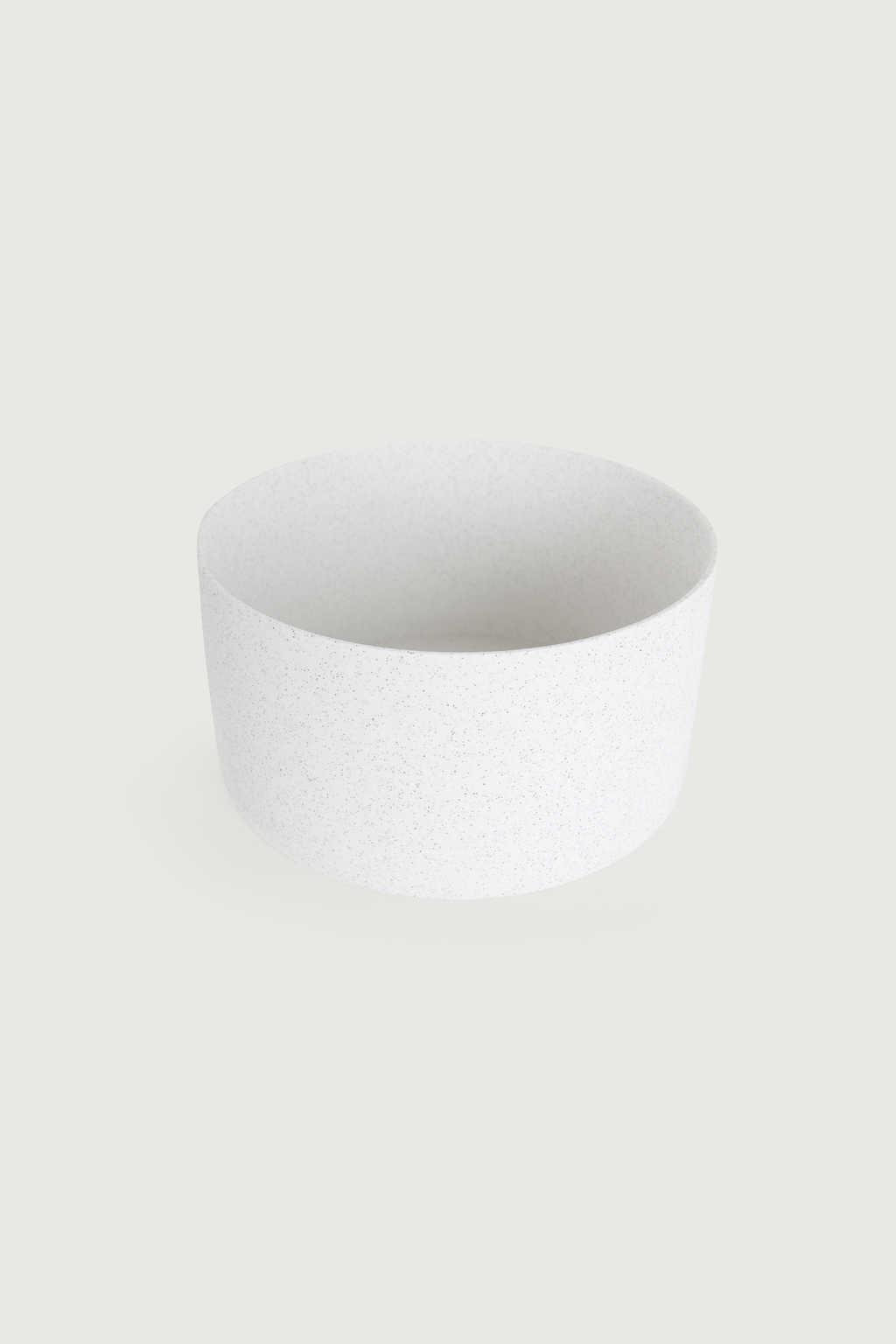 Wide Ceramic Planter 2947 White Speckeled 6