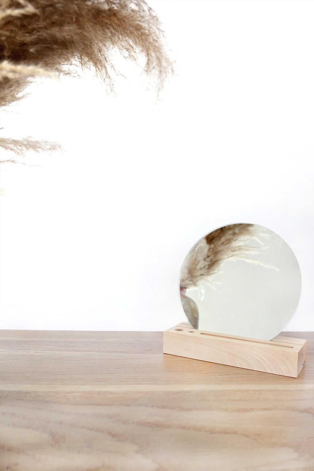 Wooden Mirror Stand 2901 Beige 1