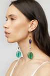 Earring K010 Green 1