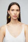 Earring K029 Mustard 1