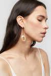 Earring K051 Beige 1